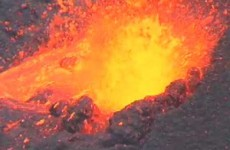 Eruption 2009 Piton de la Fournaise cratère Dolomieu