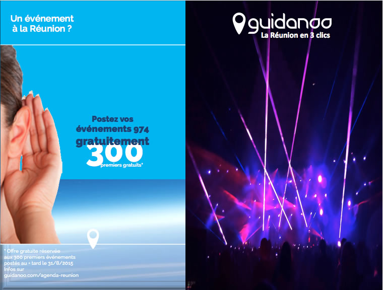 Agenda Reunion : Gratuitement, postez vos evenements 974